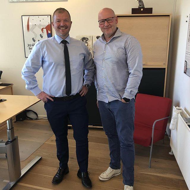 Besøg af Morten Bjørn Hansen, den nye direktør for Business Kolding. Det blev til en spændende snak om erhvervs- og uddannelsesmiljøet i Kolding. #businesskolding #c2it