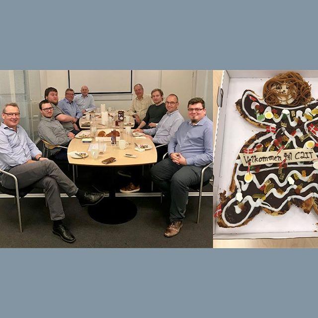 Første besøg hos vores nye kollegaer. Velkommen til😀 #c2it #microsoftdynamicsnav #erp #welcome