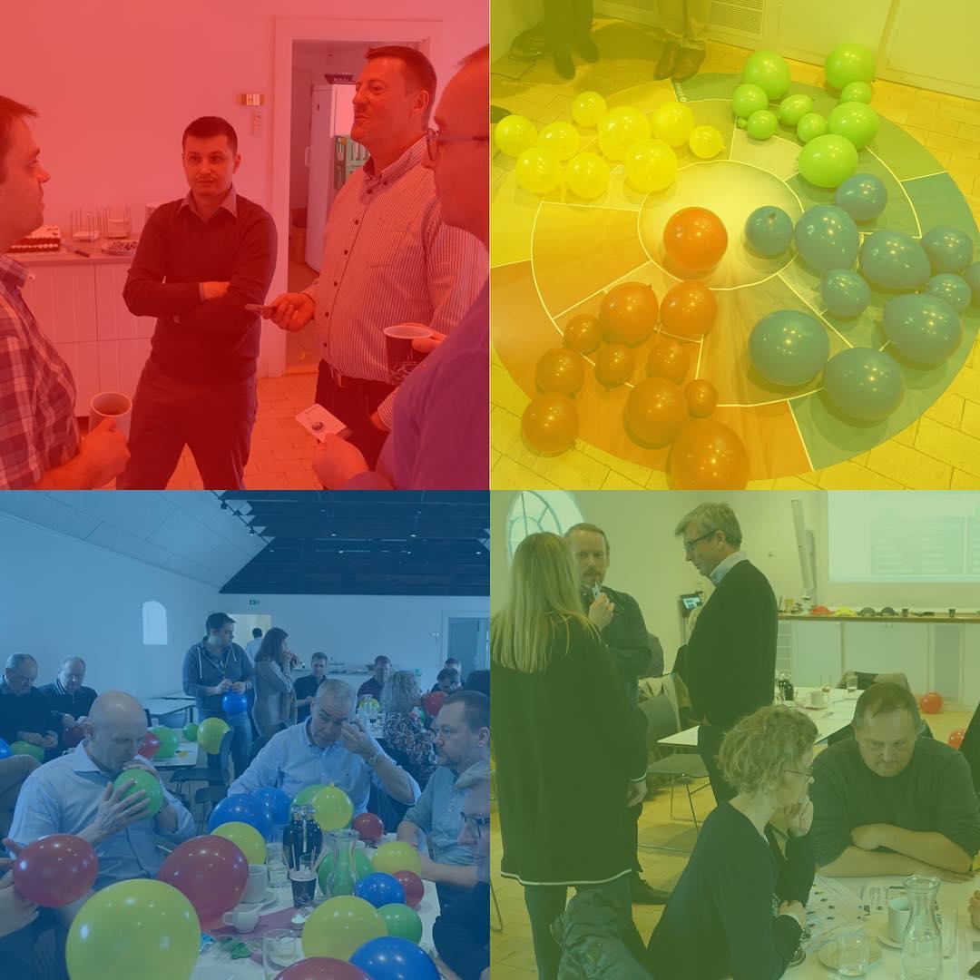 Rød, blå, gul eller grøn??? På teamdag for at blive klogere på os selv og hinanden…🙂 #LivetErForKortTil kedelige arbejdspladser! #c2it