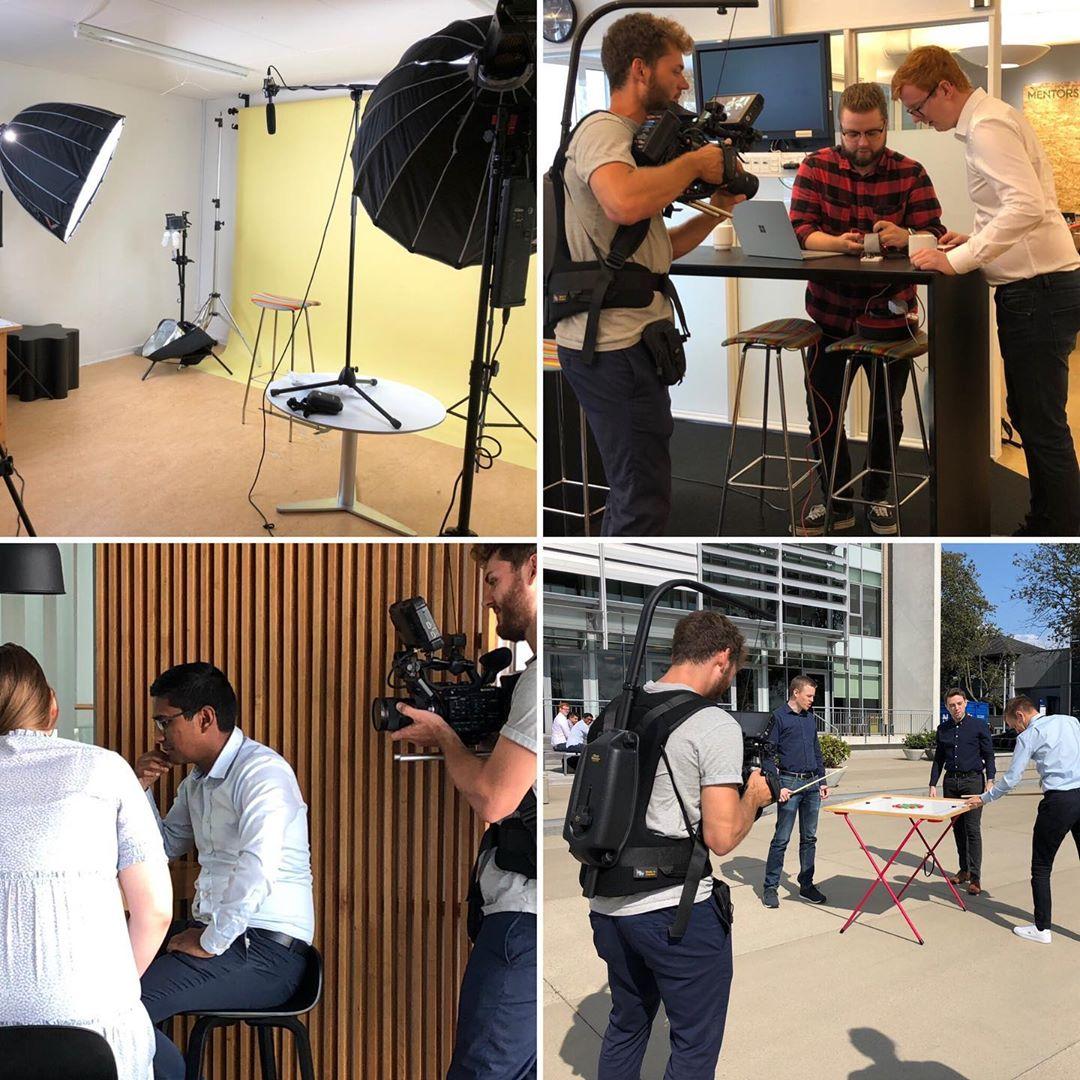 Optagelser til C2IT Karrierefilm i Aarhus. Next stop Ballerup… #LivetErForKortTil kedelige arbejdspladser #c2it #impulsfilm