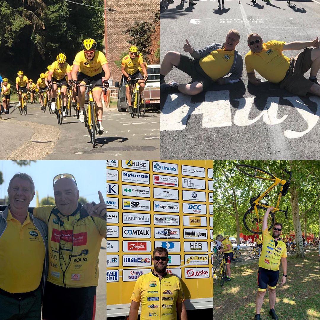 """Touren er afsluttet… og tidligere i juli var det """"vores"""" seje deltagere fra @teamrynkeby, der kæmpede i en god sags tjeneste og kom godt til Paris. SÅDAN!!👍🚴♂️🚴♀️ Vi er stolt sponsor af både @teamrynkebysonderjylland og @teamrynkebyvestegnen, der cyklede godt 1.200 km på 8 dage👏👏😅 Her lidt stemningsbilleder fra de to holds tur… #LivetErForKortTil ligegyldighed💛 #teamrynkeby #fuckcancer#børnecancerfonden #kræftramtebørn #teamrynkebyvestegnen #teamrynkebysønderjylland #c2it"""