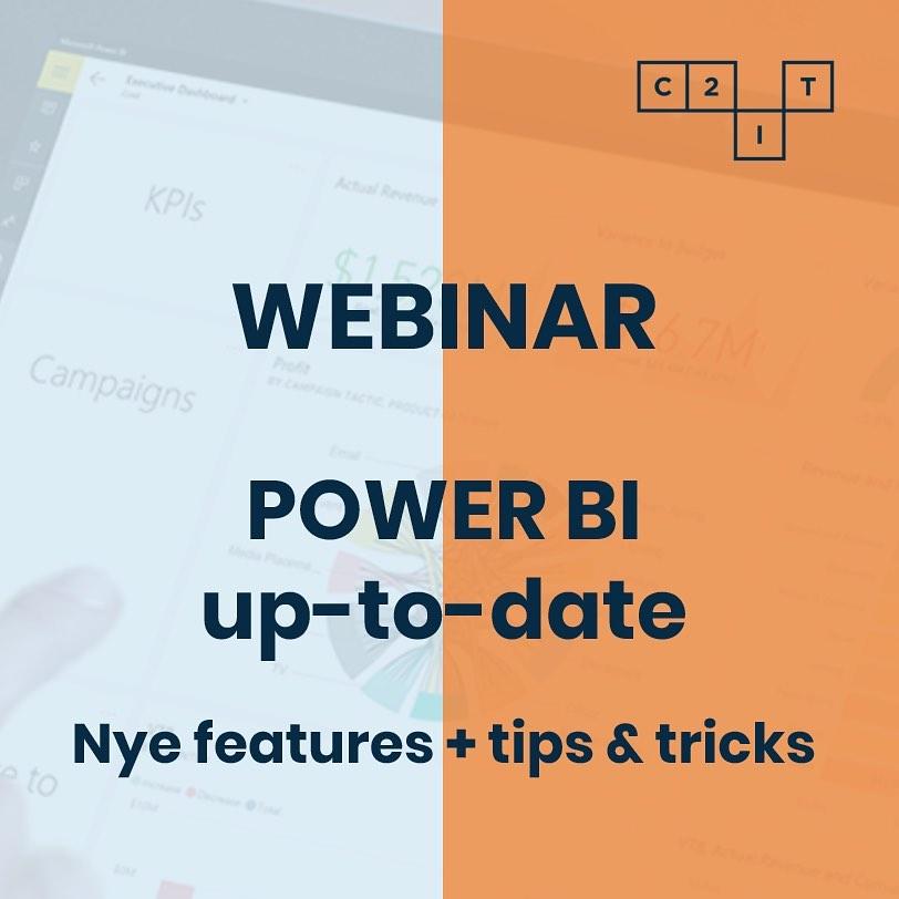 """Vil du gerne være opdateret på Microsoft Power BI, men kniber det med tiden eller lysten til at """"nørde""""? Så er dette webinar lige noget for dig! Vi har samlet de nyeste features og kommer med tips og tricks, så du kan udnytte din Power BI endnu mere🧐 Det sker på onsdag den 9. sep. kl. 9-10. Tilmelding via link i bio. Webinaret henvender sig til dig, der allerede har Power BI og ønsker at følge med i de nyeste features. #powerbi #businessintelligence #microsoftpowerbi #dataanalytics #digitalisering #c2it #webinar"""