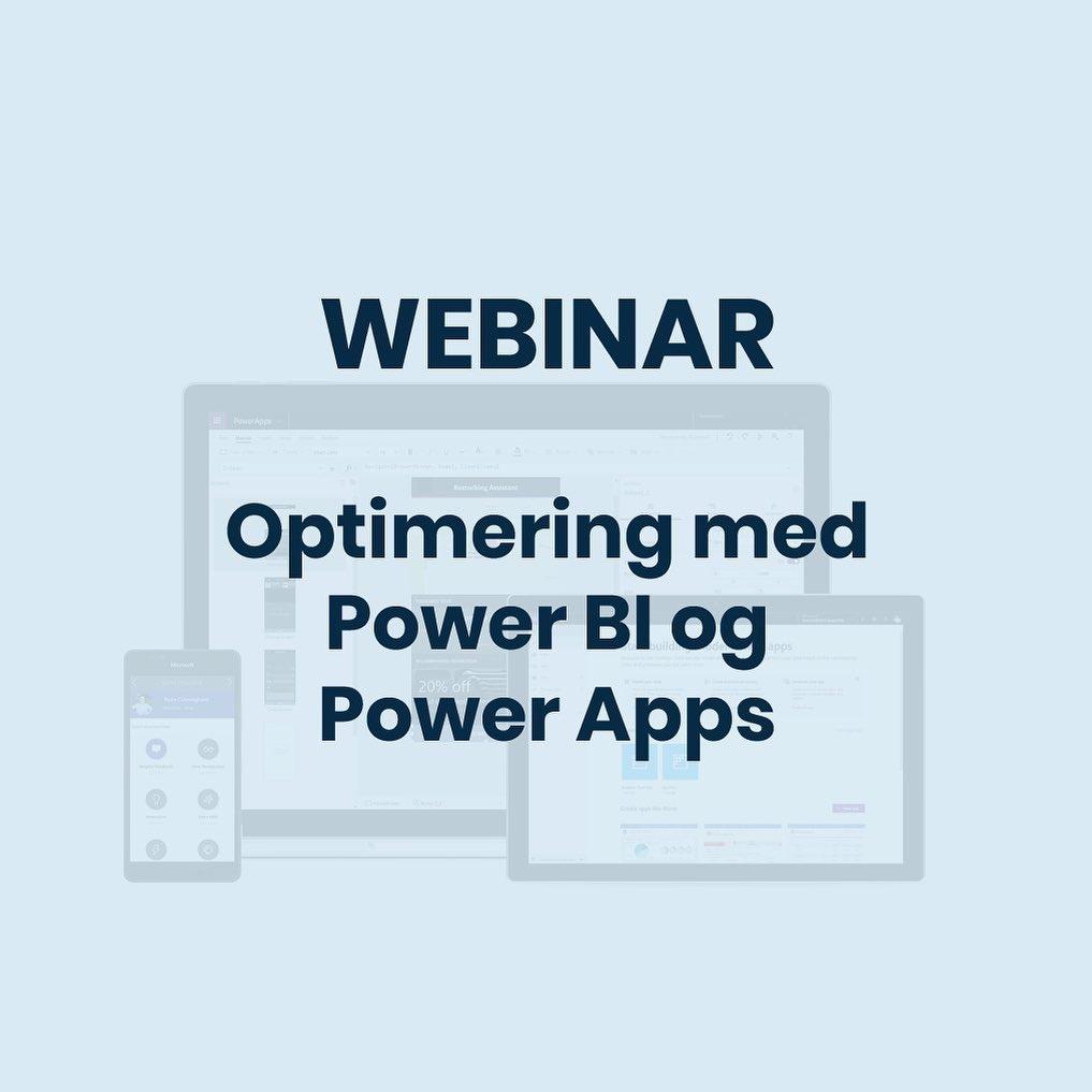 Sæt POWER til din virksomhed! I næste uge sætter vi fokus på Microsoft Power Platform, Power BI og Power Apps. Tilmeld dig vores gratis webinarer og se i praksis, hvordan teknologierne kan optimere og digitalisere processerne i din virksomhed. Link til tilmelding i bio. #powerapps #powerbi #procesoptimering #microsoftpowerplatform #businesscentral #digitalisering #c2it #webinar