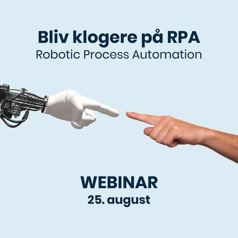 Er du nysgerrig på Robotic Process Automation (RPA), digitale assistenter eller kontorrobotter? 🦾🤖🤔 Kært barn har mange navne… og uanset navn, så handler det om at flytte data og integrere systemer og derved undgå manuelle registreringer og arbejdsgange – kort sagt at sætte strøm til dine processer. På vores webinar den 25. august laver vi en introduktion til automatisering med RPA-teknologi. Tilmelding via link i bio. Webinaret henvender sig til ledere, beslutningstagere og andre med interesse i optimering og effektivisering af arbejdsgange. Deltagelse kræver ingen tekniske forkundskaber. #digitalisering #roboticprocessautomation #rpa #automatisering #tekno #LivetErForKortTil halvtomme glas