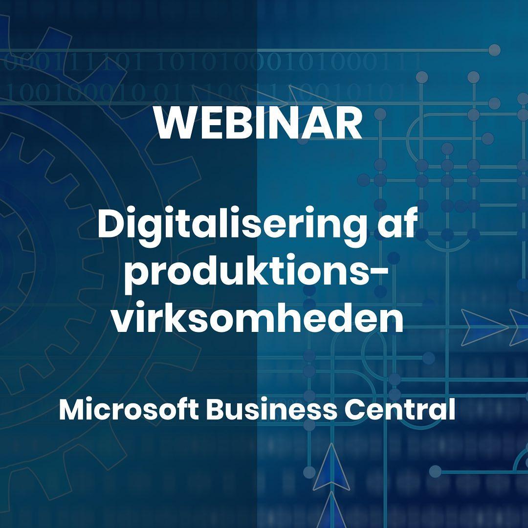 """️P R O D U K T I O N S V I R K S O M H E D ️ For produktionsvirksomheder der er nysgerrige på optimering og digitalisering! Måske bøvler du med forældede systemer, der ikke samarbejder, for mange manuelle og tunge processer og et manglende overblik over din produktion og forretning På webinaret """"Produktion med Microsoft Business Central"""" får du indblik i: Optimering af processerne i din forretning – køb, lager, produktion, underleverandører og salg Microsoft Business Central som digital løftestang Effektivisering af forsyningskæden Økonomisk overblik over produktionen Teknologiske fordele. Tidspunkt: Tirsdag den 28. september kl. 14-15. Vores produktchef Kent Tranberg Pedersen deler ud af sin store viden om Microsoft Dynamics Business Central med udgangspunkt i en produktionsvirksomhed. Info og tilmelding via link i bio Deltag hvis du ønsker inspiration til at tage hul på digitaliseringen og mere overblik over din forretning 🤓 #businesscentral #erp #digitalisering #microsoftdynamics365"""